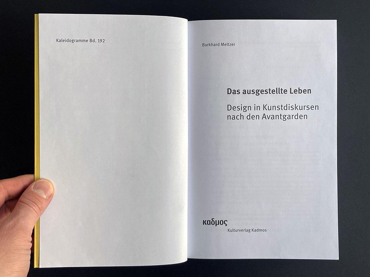 Das ausgestellte Leben, title page