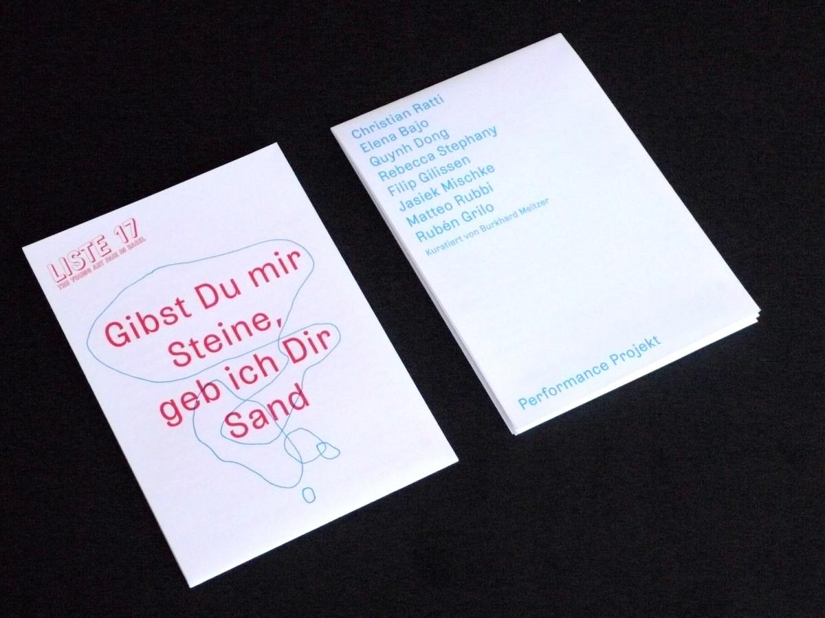 Liste 17 Perfomance Project, Programm, 2012